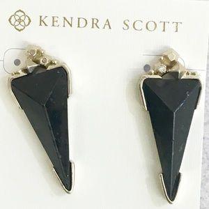 Stunning Kendra Scott black granite earrings!  🎁